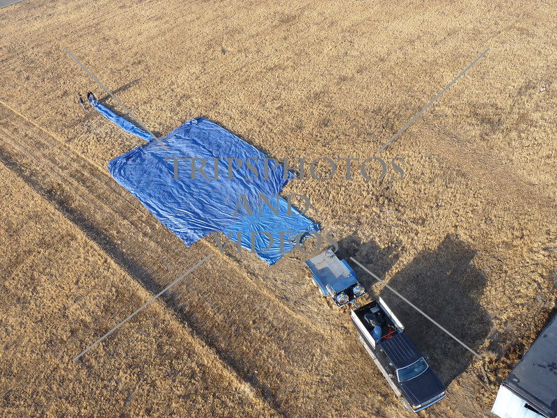 The staging ground for Hot Air Balloon ride in Perris, California.