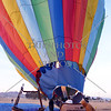 A Hot Air Balloon is readied for a flight over Perris, California.