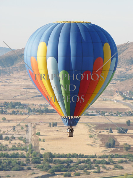 Hot Air Balloon Ride over the valley in Perris, California.