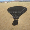 Hot Air Balloon field shadow in Perris, California.