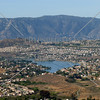 A view of the valley and Lake Elsinor from Perris, California.