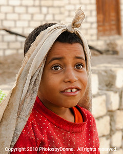 Village boy near White Desert