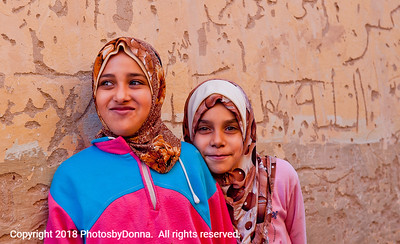 Young girls living in a small village in the White Desert