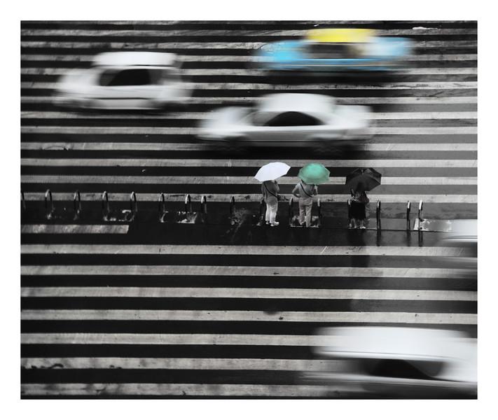 Three vs Four - Chengdu, China<br /> <br /> shot through hotel window