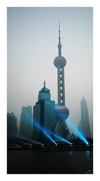Pearl TV tower, Shanghai, China.