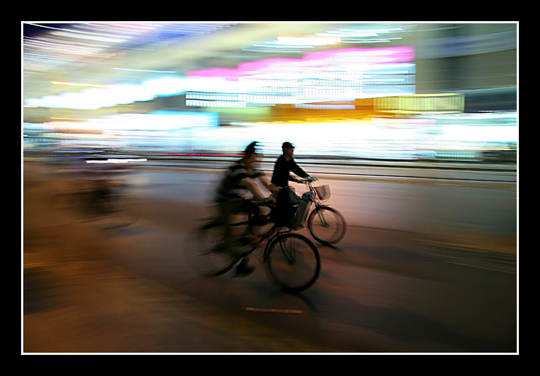 Bikers, Shanghai, China.