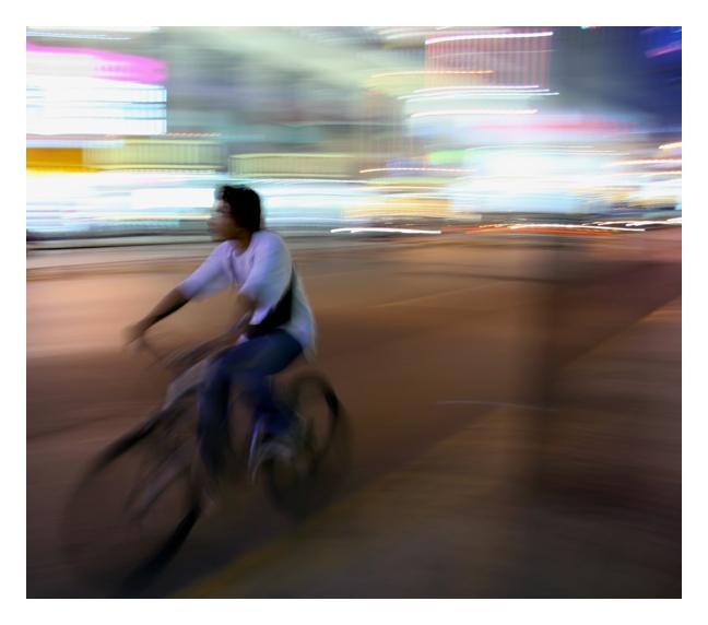 Biker. Shanghai, China.