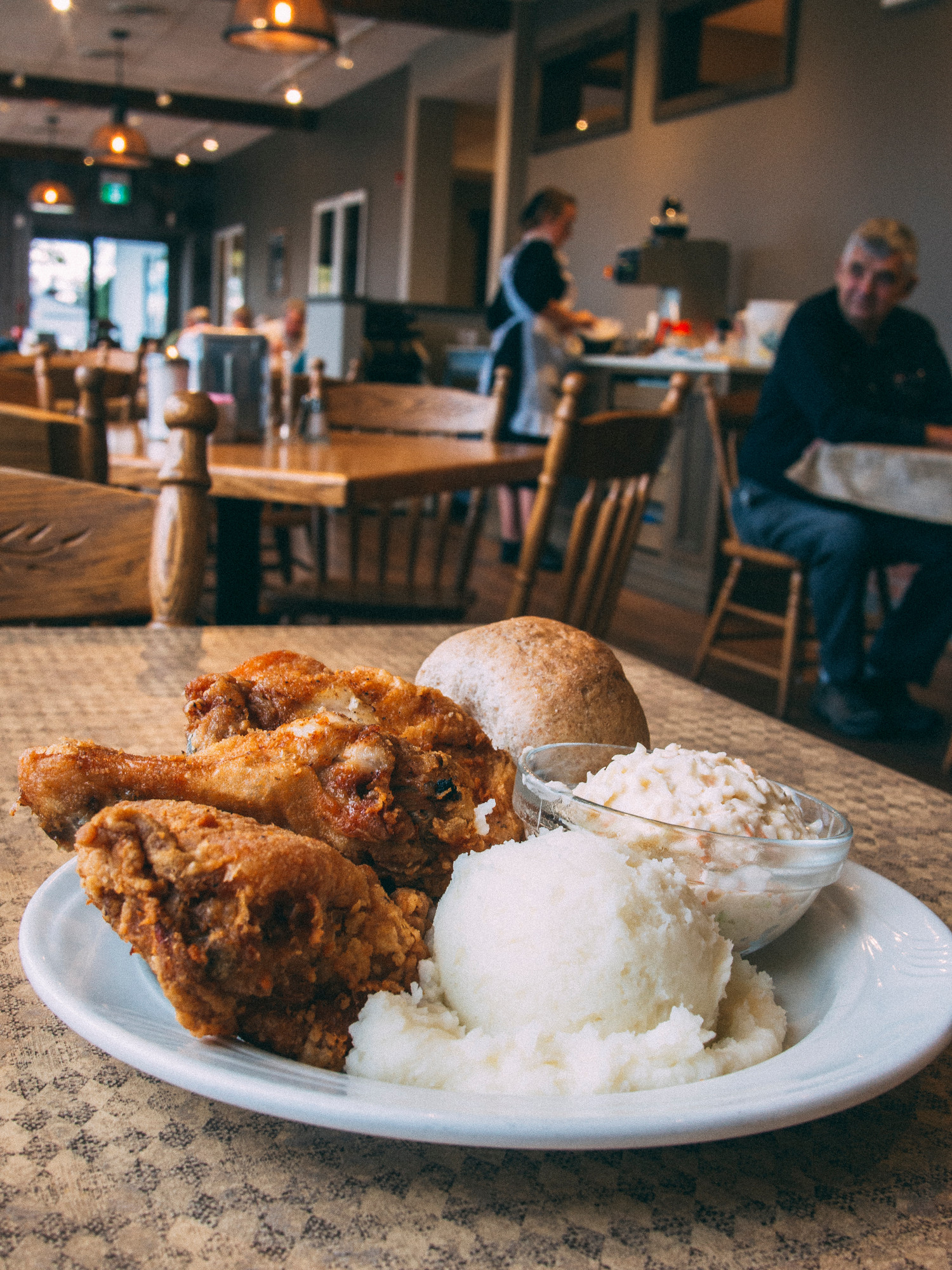 Anna Mae's Broasted Chicken in East Perth County, Ontario is a Mennonite restaurants that is popular with locals and very reasonably priced.