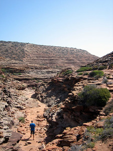 Coastal gorges near Kalbarri - walking down this path takes you straight to the beach.