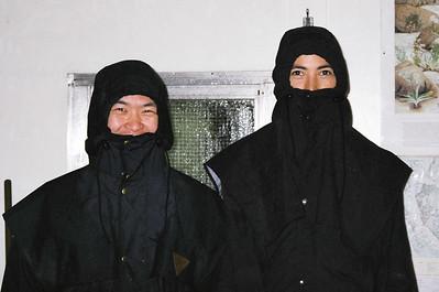 Paul and Tobias, teenage mutant ninja hikers.