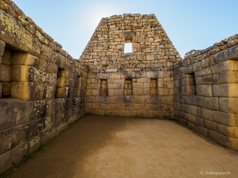 Inside one of the quarters of a Inca home