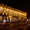 Arequipa colonnade at night