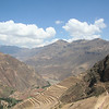 Pisac terraces and Urubamba Valley
