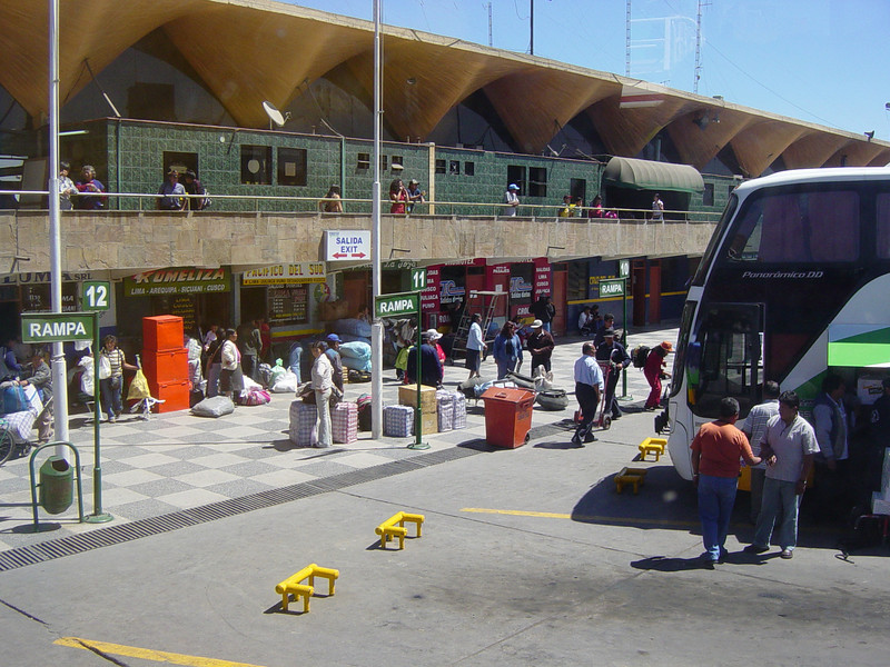bus station in Arequipa