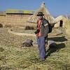 Steve in the Uros village
