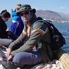 Steve on the Uros boat