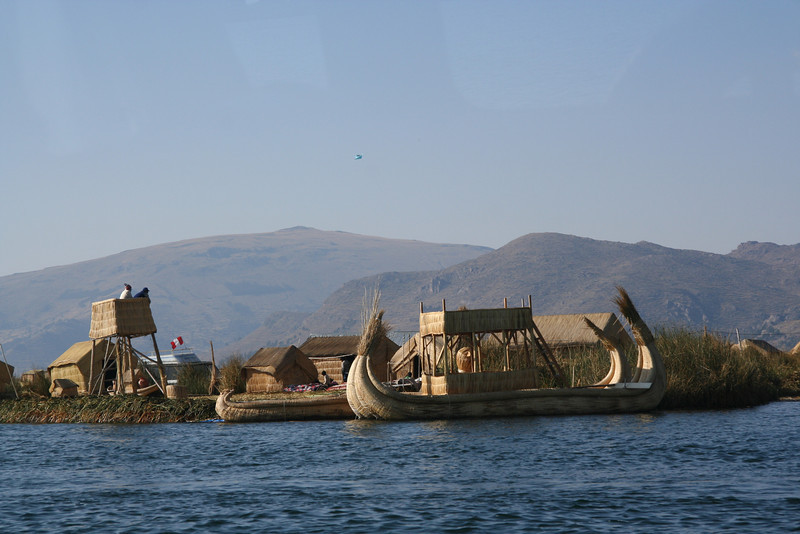 Uros islands and boats