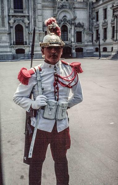 Presidential Guard at Lima Palace