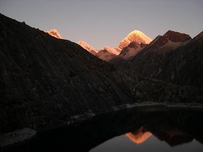 Alpine glow reflection