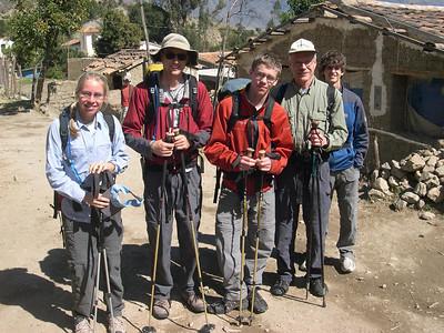 The happy trekkers: Fresh legs and eager minds,  let the trek begin.