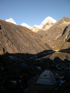 Camp 2: This is our highest camp of the trek,  about 15,400 feet.
