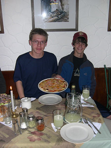 Pizza in Peru,  The last Supper before the trek.: It was as good as it looks.