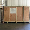 Both bikes were crated like this for the long voyage to Callao, Peru.....