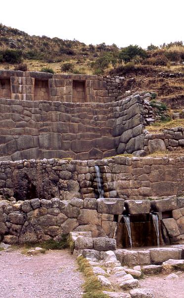 Tambomachay ruins, used as a water source.
