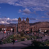 The plaza in Cuzco.