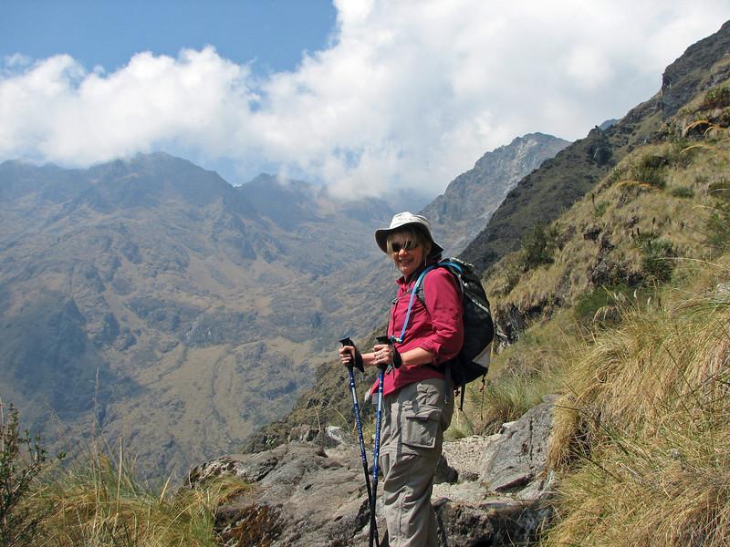 Beth contemplates the mountains