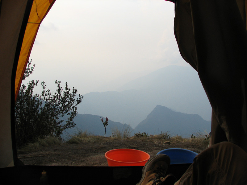 Looking out of our tentf