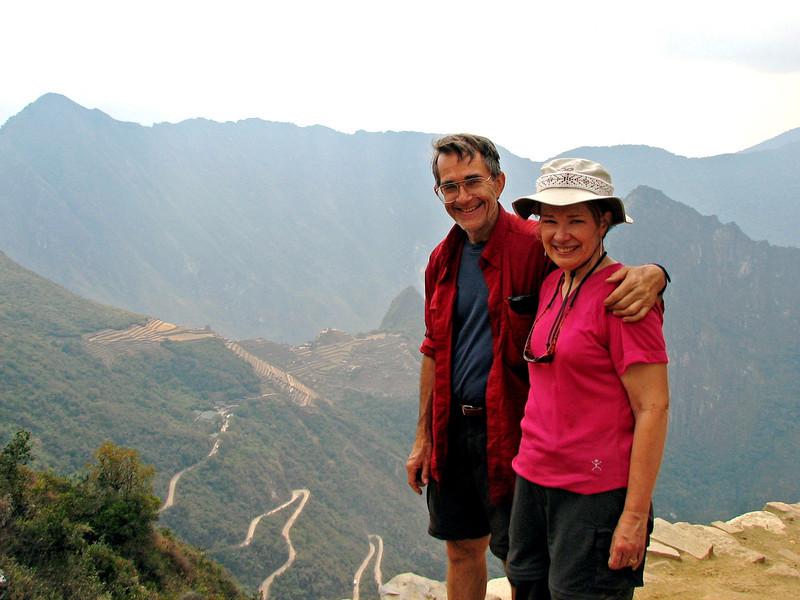 Overlooking Machu Picchu at last