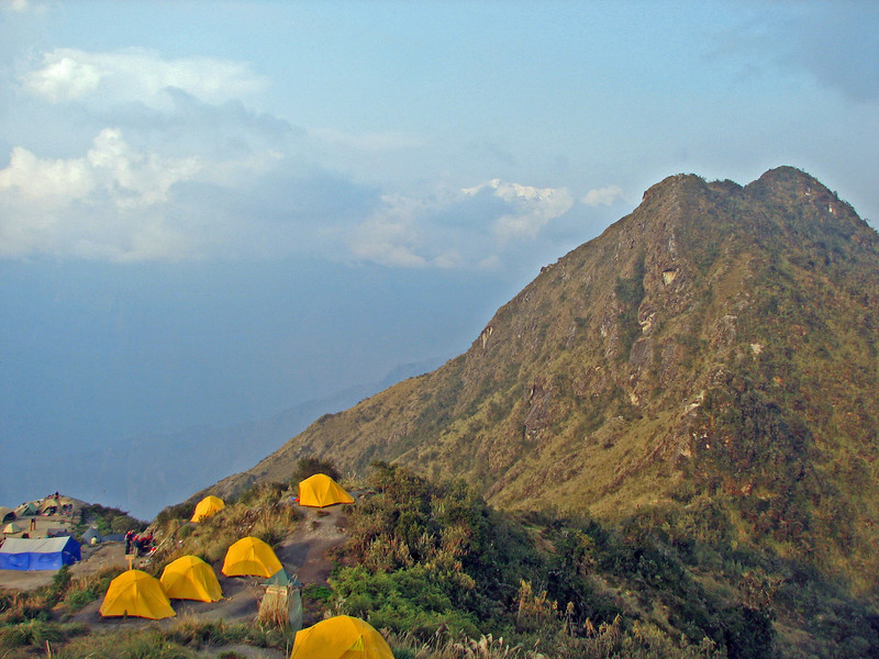 """Our tent was at the top of this picture in what we shall term """"sacred space"""""""