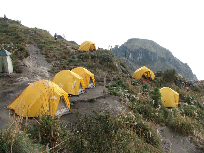 Our last camp was set amid the clouds