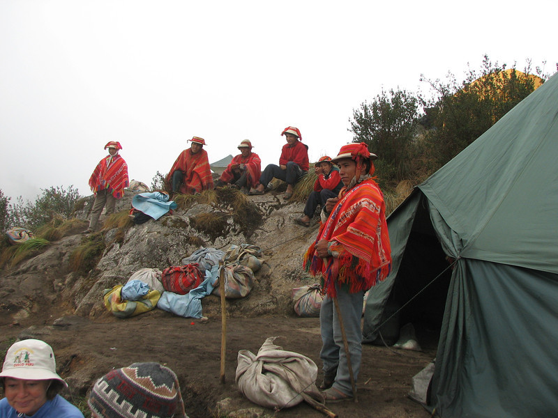 Next morning the porters gather for last time