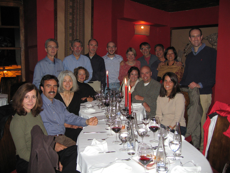 And a farewell dinner with our hardy and most enjoyable group