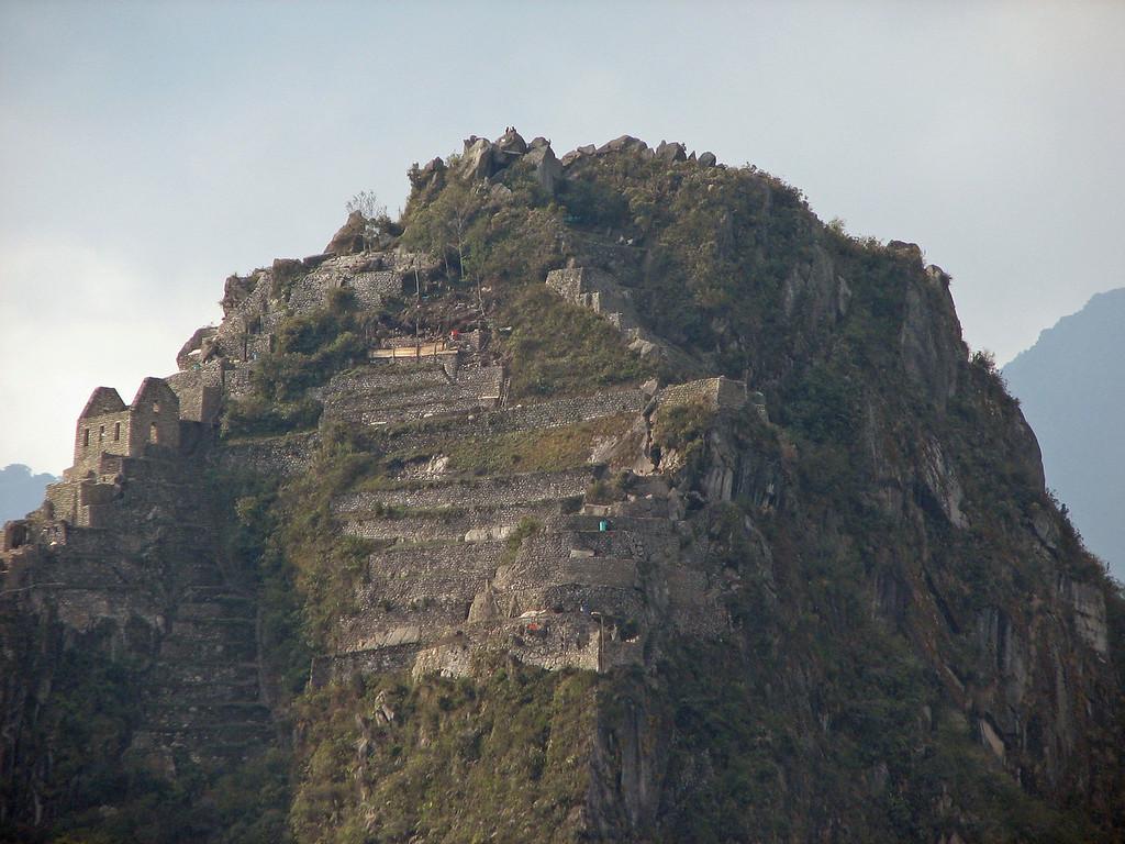 Close-up of Wayna Picchu