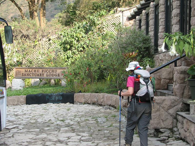 Arrival at the 5 star lodge at Machu Picchu