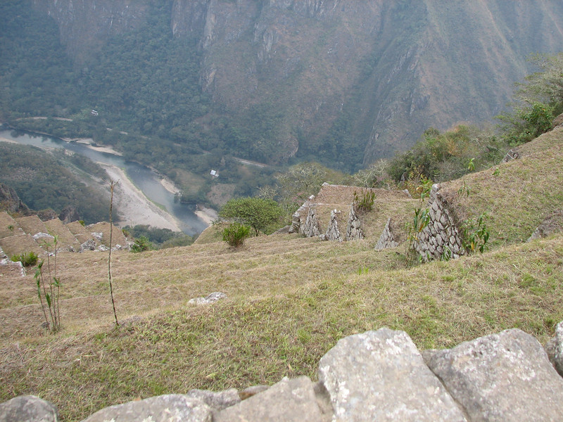 Looking down at the Urubamba that we had left 5 days earlier