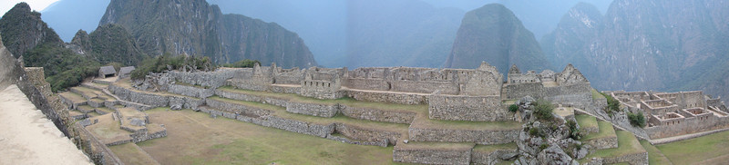 Machu Picchu with Wayna Picchu showing on the left