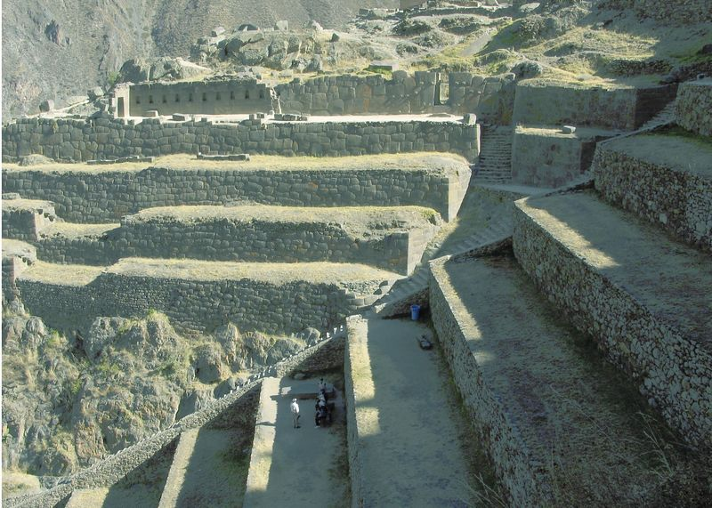 The terraced fortress Ollantaytambo, Peru