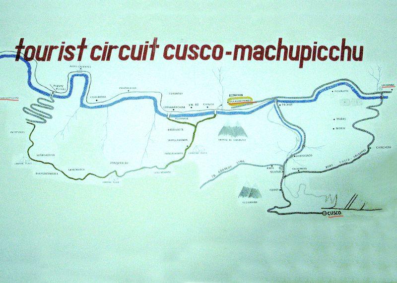 Machu Picchu, Cuzco, Ollantaytambo, Uurabamba map