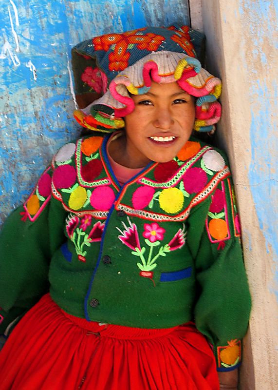 A child of the Copamaya village above Lake Titicaca at 13,000 feet