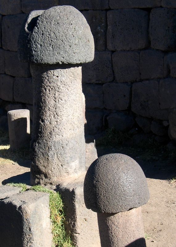 Fertility temple on the shores of Lake Titicaca