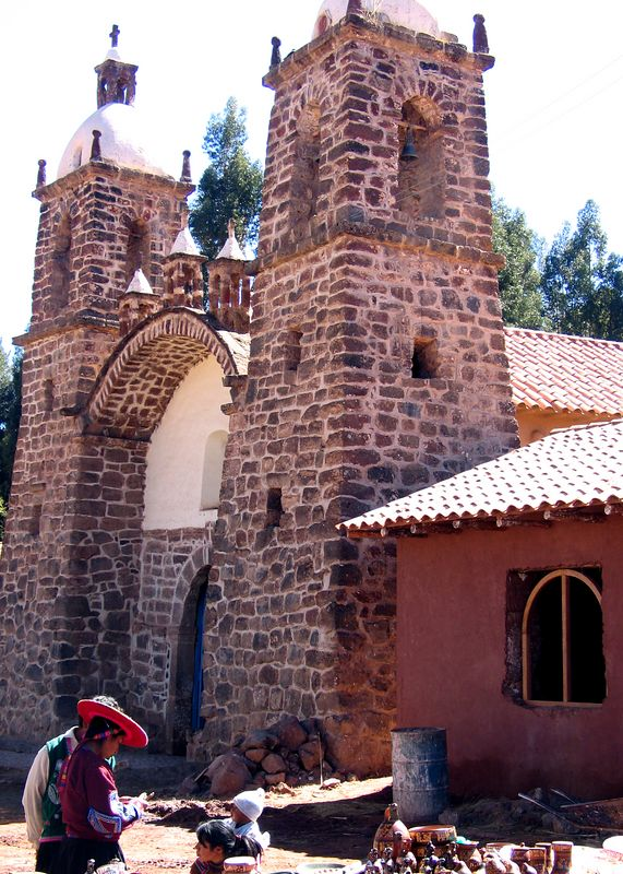 A small church near Racchi, Peru