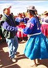 Juan dancing with native of Copomaya above lake Titicaca at 13,000 feet elevation