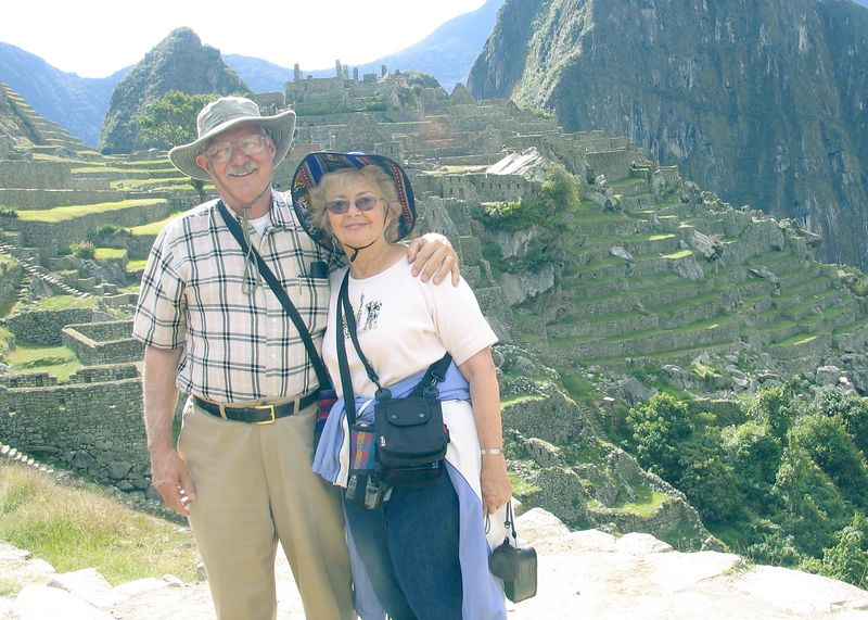 Bill & Sandy at Machu Pichu, Peru