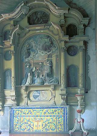 Small altar, San Francisco convent, Lima, Peru