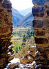 Ollantaytambo, Peru through arches of ruins