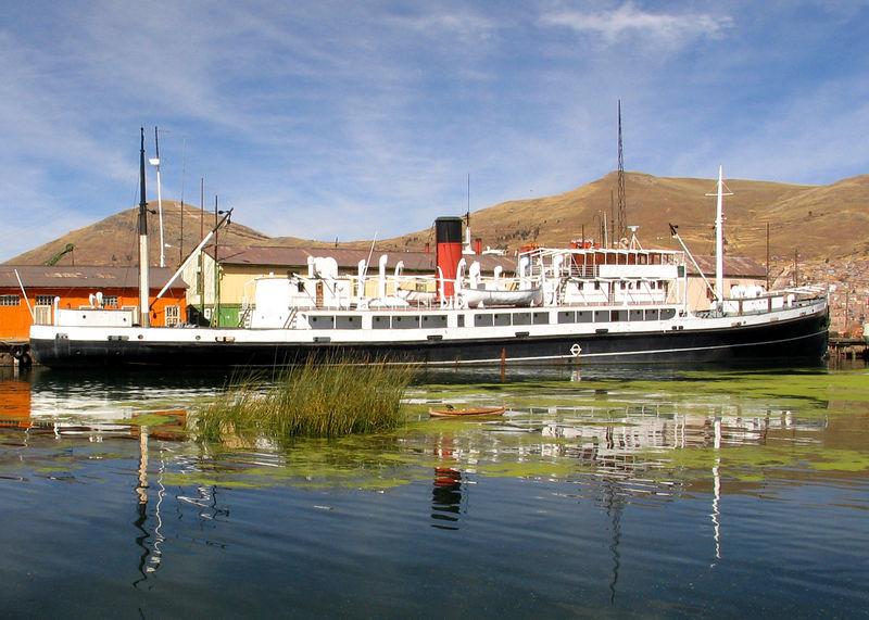 The Motor Vessel MV Yavari at Lake Titicaca